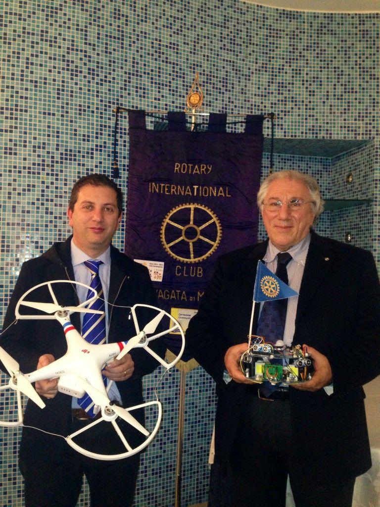 Salvino Fidacaro e il Presidente del Club Rotary Angelo Romano