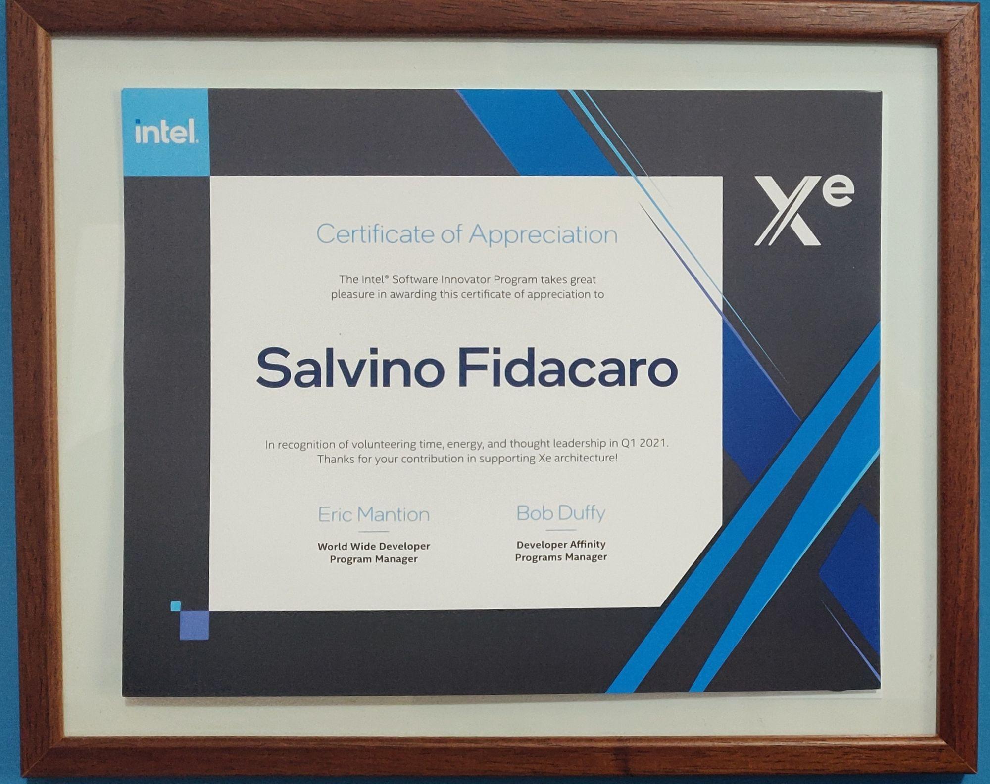 Intel Software innovators Italia