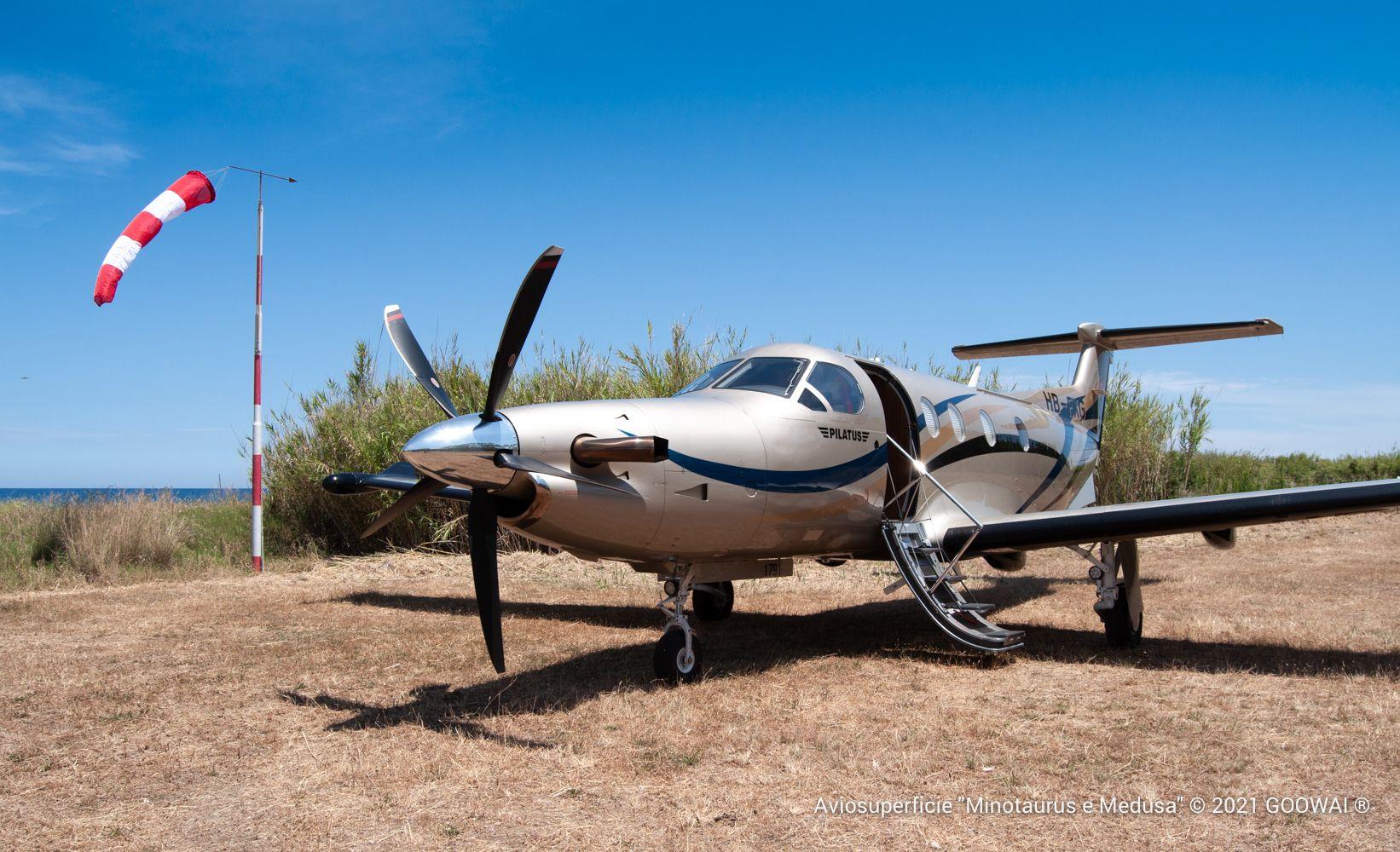 "Pilatus PC-12 a Caronia Aviosuperficie ""Minotaurus e Medusa"""